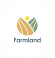 farmland logo vector image