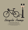 Inflating Bicycles Tyre EPS10 vector image
