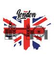 london flag england toruism travel landmark symbol vector image