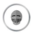 Medieval helmet icon cartoon Single weapon icon vector image