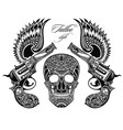 pistols tattoo vector image