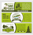 save nature planet earth protection banners vector image