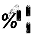 set of the price tags vector image