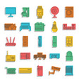 smart house icon doodle style vector image