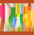 glasses to alcohol vector image