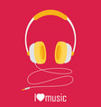headphones with cord vector image