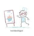 vertebrologist tells a presentation on the spine vector image vector image