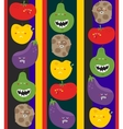 Crazy fruits and vegetables seamless pattern vector image vector image