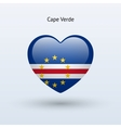 Love Cape Verde symbol Heart flag icon vector image