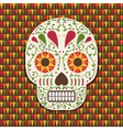 mexican skull decoration vector image vector image