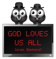 God loves us all vector image vector image
