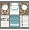 Set of design templates Brochures in vector image