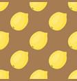 cartoon fresh lemon fruits in flat style seamless vector image