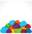 Colorful cloud background vector image
