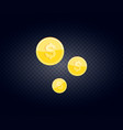 gold coins falling realistic coin vector image