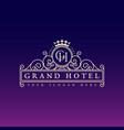 grand hotel label vector image