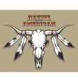 Indian Bull Skull vector image