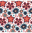 Seamless colorful daisy flowers pattern vector image