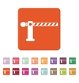 The barrier icon Roadblock and borderline stop vector image