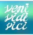 Veni Vidi Vici - quote for inspiration vector image