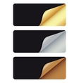 Banners with different corner and place for your vector image