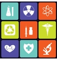 Medicine icons square vector image