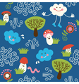 Seamless pattern fabric vector image