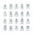 People avatars characters staff professions vector image