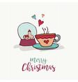 christmas holiday decoration cute cartoon card vector image