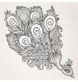 Decorative ornamental peacock background vector image