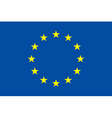 European union flag Original proportion and colors vector image