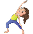 A woman doing yoga vector image vector image