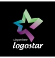 star logo of colored ribbons vector image
