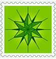 Star stamp vector image vector image