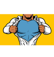 Black Superhero Chest vector image
