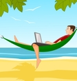 Work on a beach vector image vector image