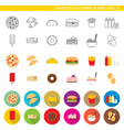 processed food icons 001 vector image