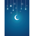 Present Card in Night Theme vector image