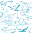 sky seamless pattern vector image vector image