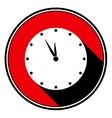 red information icon last minute clock vector image