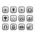 Atomic and Nuclear Energy Icons vector image