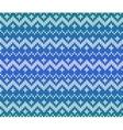 Blue knitted Scandinavian ornament seamless vector image
