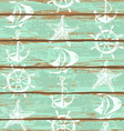 Boards of ship deck seamless pattern vector image