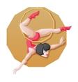 Circus perfotmer make aerial ring fly trick vector image