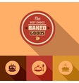 flat baked goods design vector image