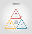 infographic design business concept with 3 options vector image