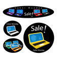 Mobile Computer on Cyber Monday Sale Background vector image