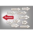 Way to success arrow graphic vector image