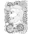 Zen Tangle portrait of a man vector image