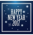 happy new year 2017 greeting card snowflakes stars vector image